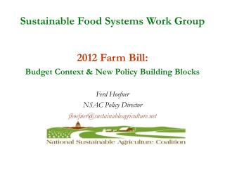 Sustainable Food Systems Work Group