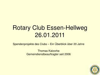 Rotary Club Essen-Hellweg 26.01.2011