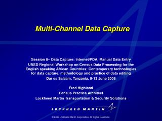 Multi-Channel Data Capture
