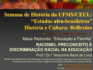 Semana de Hist ria da UFMS