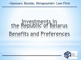 « Sysouev, Bondar, Khrapoutski »  Law Firm