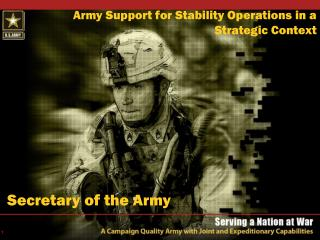 The Army Modular Force 2004-2020    15 July 2005