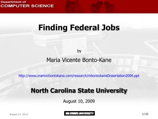 Finding Federal Jobs