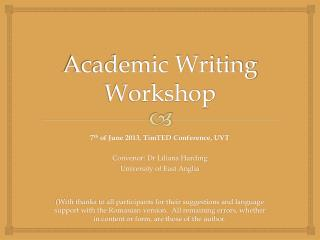 Academic Writing Workshop
