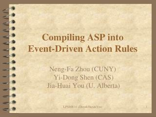 Compiling ASP into Event-Driven Action Rules