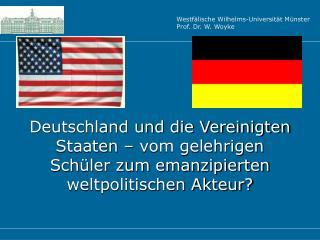 Deutsch-Amerikanische Beziehungen 1945 - 1990