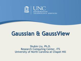 Gaussian  GaussView