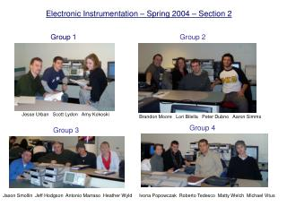 Electronic Instrumentation � Spring 2004 � Section 2