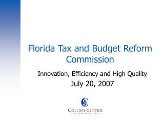 Florida Tax and Budget Reform Commission