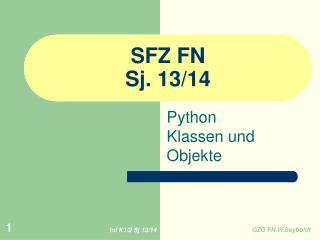 SFZ FN  Sj. 13/14