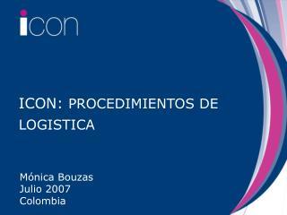 ICON:  PROCEDIMIENTOS DE LOGISTICA