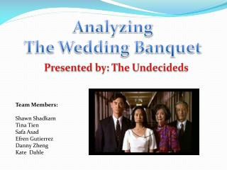 Analyzing  The Wedding Banquet