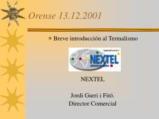 Orense 13.12.2001