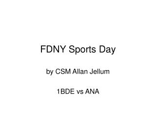 FDNY Sports Day