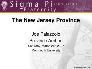 The New Jersey Province