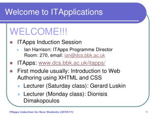 Welcome to ITApplications
