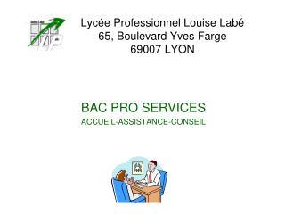 Lyc e Professionnel Louise Lab  65, Boulevard Yves Farge 69007 LYON