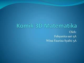 Komik 3D Matematika