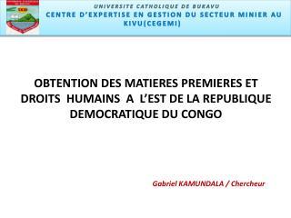 Centre d'expertise en gestion du secteur minier u Kivu (CEGEMI)