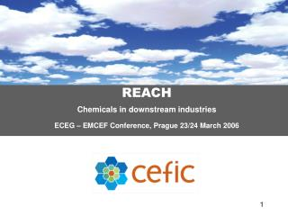 REACH  Chemicals in downstream industries ECEG – EMCEF Conference, Prague 23/24 March 2006