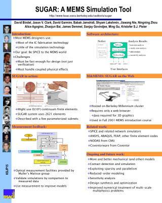 SUGAR: A MEMS Simulation Tool