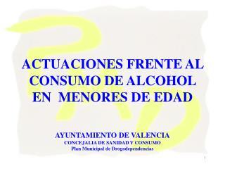 """El consumo de alcohol y los adolescentes un problema de salud pública. ¿una """"batalla perdida"""" ?"""