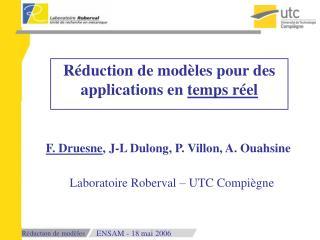 Réduction de modèles pour des applications en  temps réel