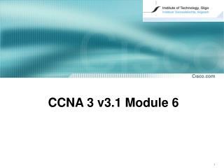 CCNA  3  v3. 1  Module 6