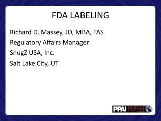 FDA LABELING