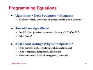 Programming Equations