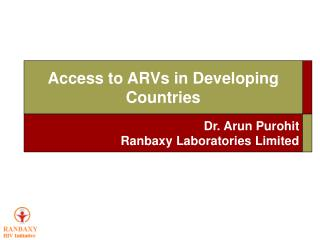 Access to ARVs in Developing Countries