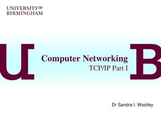 Computer Networking TCP/IP Part I