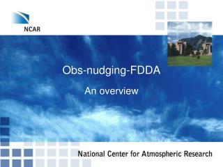 Obs-nudging-FDDA