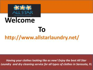 Dry Cleaning Services | Wash And Fold Laundry Service