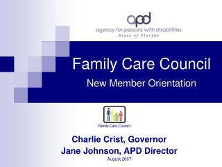 Family Care Council New Member Orientation