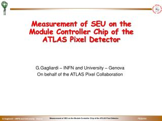 Measurement of SEU on the Module Controller Chip of the ATLAS Pixel Detector