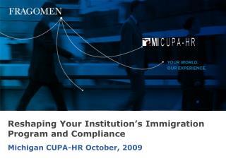 Michigan CUPA-HR October, 2009