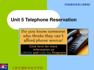 Unit 5 Telephone Reservation