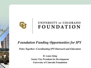 Foundation Funding Opportunities for IPY