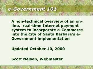 e-Government 101