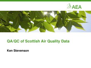 QA/QC of Scottish Air Quality Data