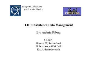 LHC Distributed Data Management