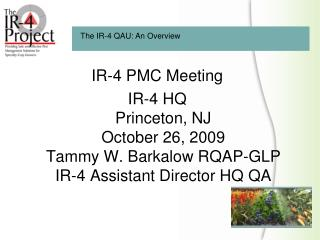 IR-4 PMC Meeting