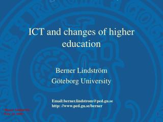 ICT and changes of higher education