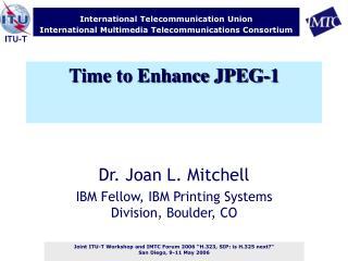 Time to Enhance JPEG-1