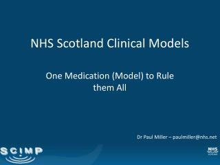 NHS Scotland Clinical Models