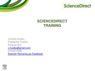 SCIENCEDIRECT  TRAINING