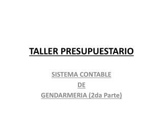 TALLER PRESUPUESTARIO