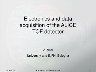 Electronics and data  acquisition  of the ALICE  TOF  detector