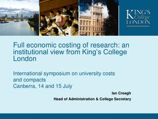 Full economic costing of research: an institutional view from King�s College London
